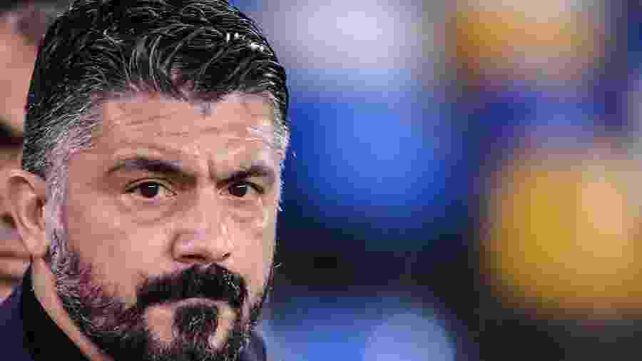 Técnico do Napoli, Gattuso acha difícil parar Messi - Alberto PIZZOLI / AFP