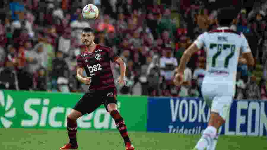 Gustavo Henrique, zagueiro do Flamengo, tem a presença ainda incerta na final da Supercopa - Alexandre Vidal / Flamengo
