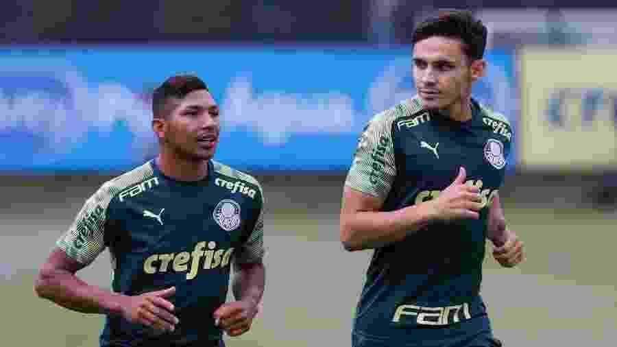 Atacante Rony treina com os novos companheiros de Palmeiras na Academia - Divulgação/SE Palmeiras