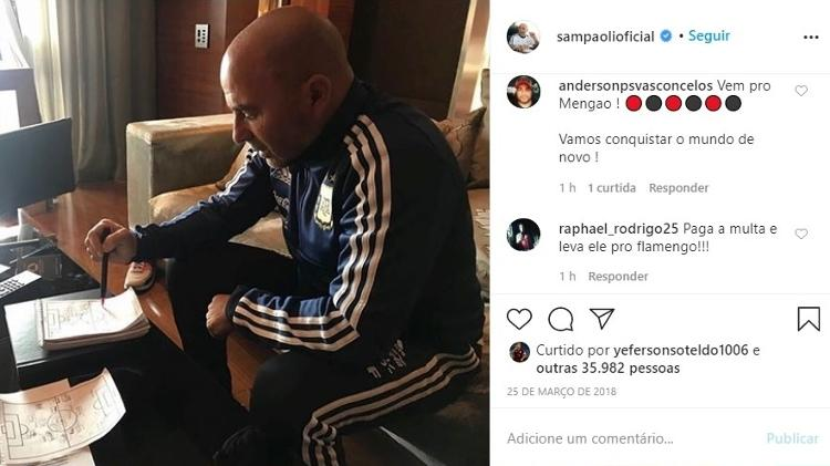 Sampaoli - Reproduction / Instagram - Reproduction / Instagram
