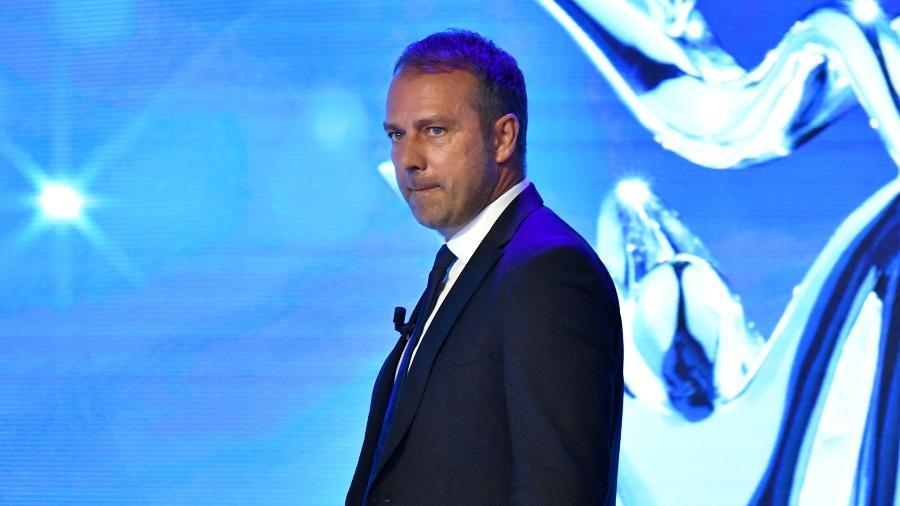 Hansi Flick, técnico do Bayern de Munique, foi eleito treinador do ano na Europa pela Uefa - Pool/Handout via REUTERS