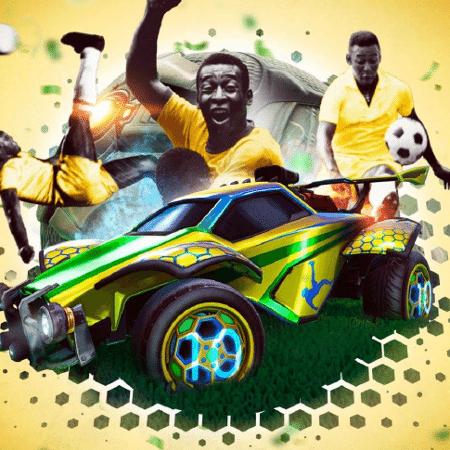 Itens temáticos de Pelé no Rocket League - Divulgação