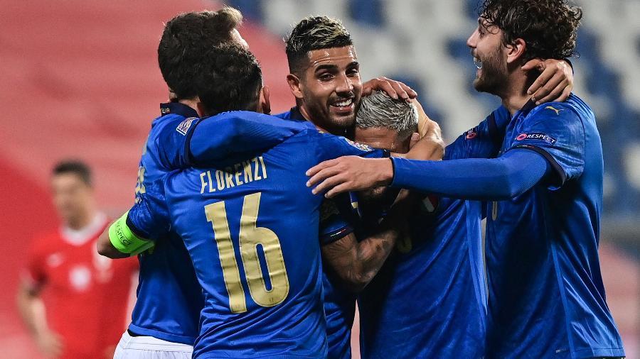 Itália lidera o Grupo 1 da Liga das Nações  - MIGUEL MEDINA/AFP