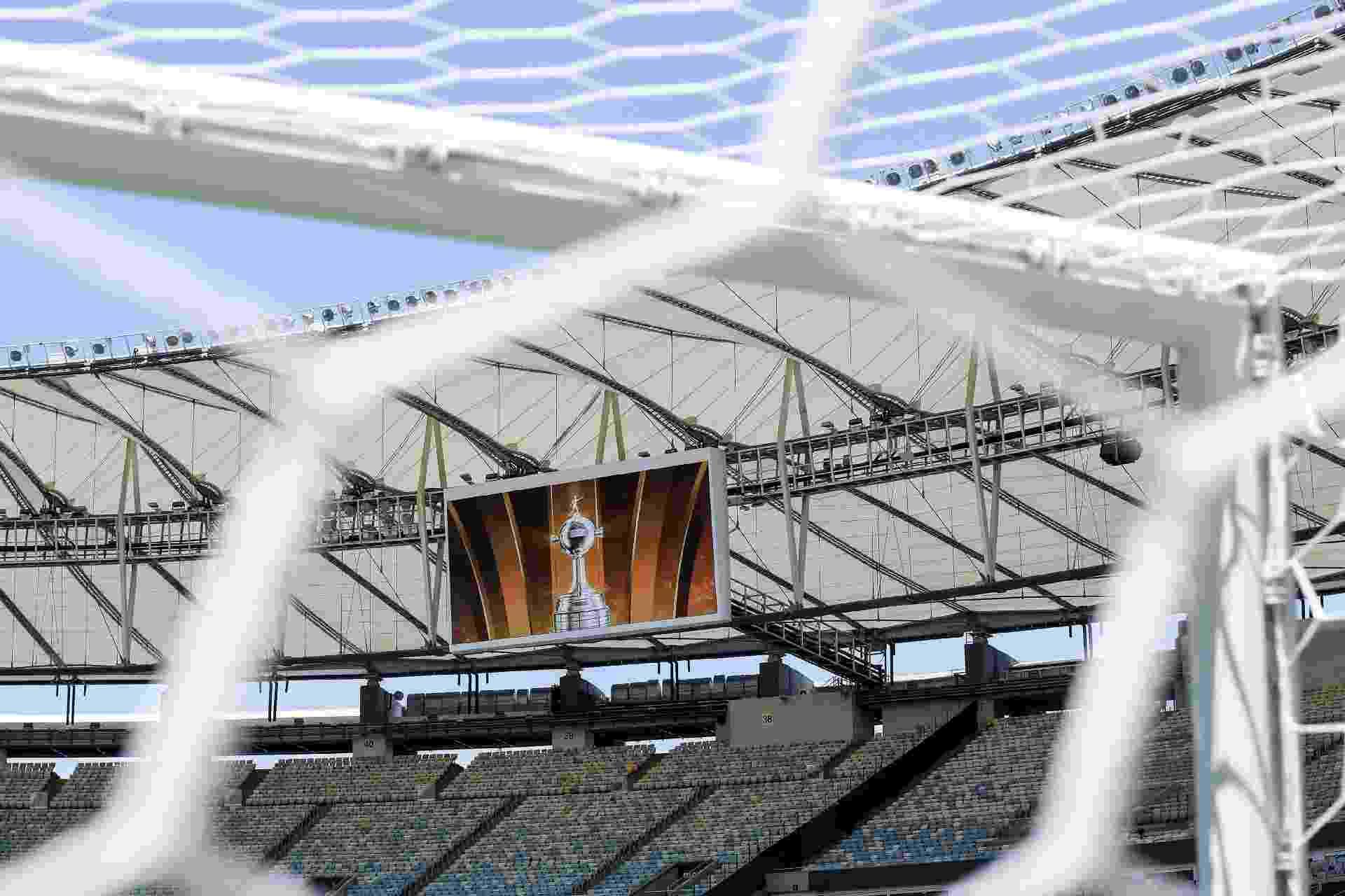 Estádio do Maracanã antes da final Palmeiras x Santos pela Libertadores - Divulgação/Conmebol Libertadores