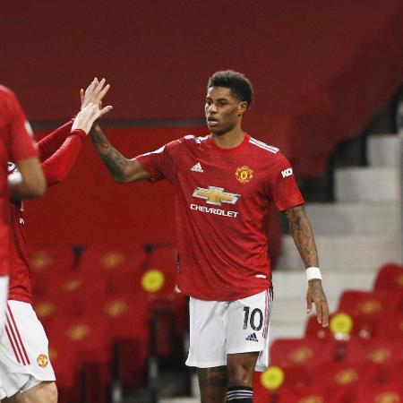 Rashford comemora gol do Manchester United contra o Newcastle - REUTERS/Phil Noble