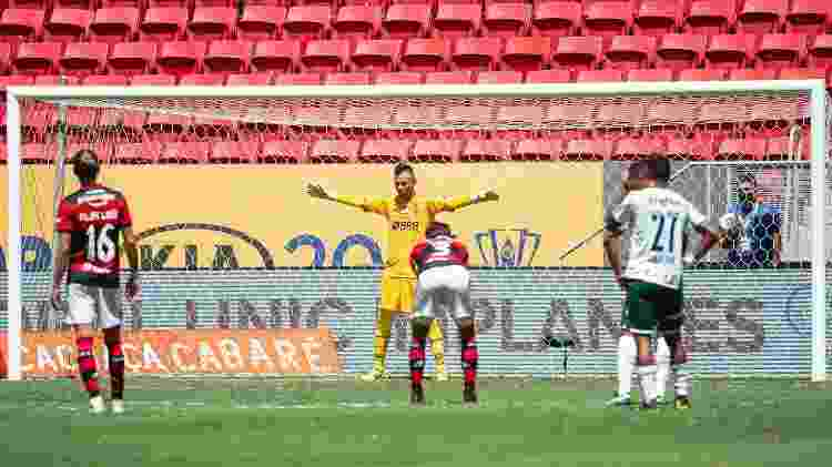 Diego Alves, na hora do pênalti - Alexandre Vidal / Flamengo - Alexandre Vidal / Flamengo