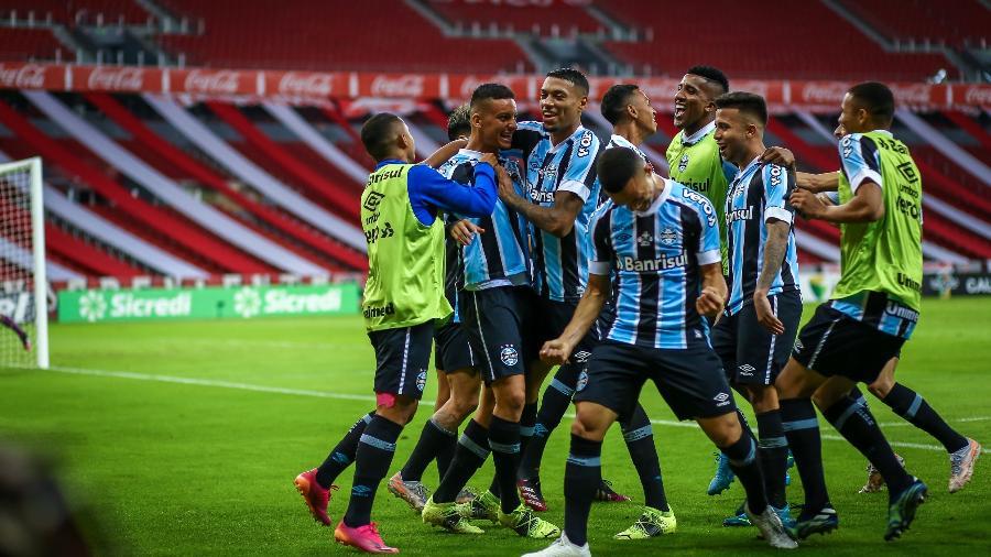 Grêmio venceu as sete partidas que disputou sob comando de Tiago Nunes - Lucas Uebel/Grêmio FBPA