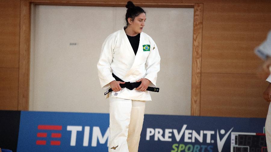 Judoca brasileira Mayra Aguiar em treino no Japão - Gaspar Nóbrega/COB