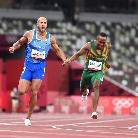 Marcell Jacobs, da Itália, é o novo campeão olímpico dos 100 m rasos - Jewel SAMAD / AFP