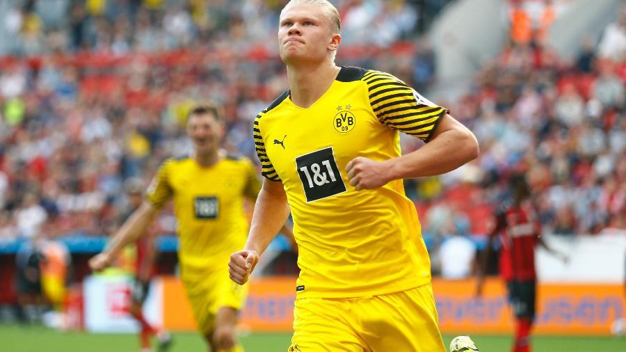 Haaland segue fazendo gols e chamando atenção de gigantes da Europa - Thilo Schmuelgen / Reuters