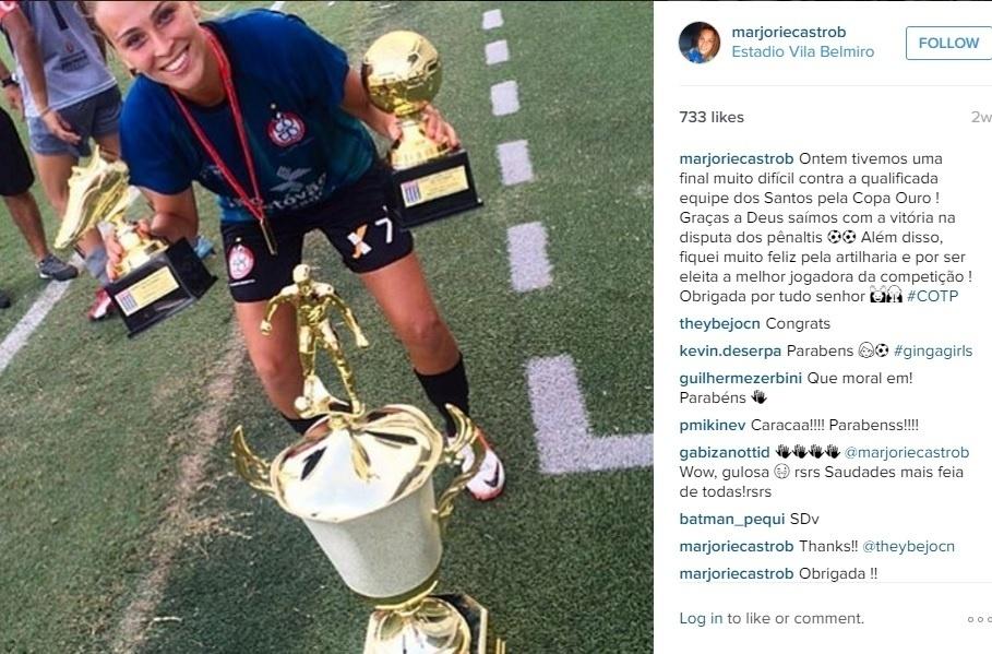 Marjorie Castro, da seleção brasileira sub-20, faz sucesso nas redes sociais