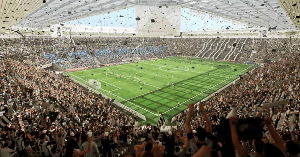 """A Arena Santos em """"modo jogo"""", segundo o projeto"""