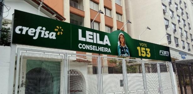 Campanha de Leila Pereira atingiu as alamedas do clube Palmeiras