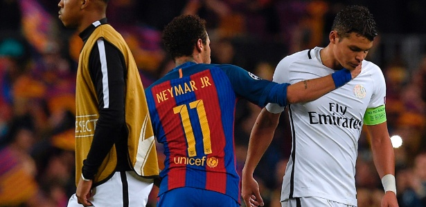 Thiago Silva disse que não sabe se Neymar será seu companheiro de elenco