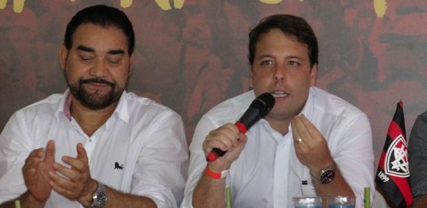 Ivã de Almeida, presidente do Vitória (esq.), e Paulo Catharino, presidente do conselho deliberativo