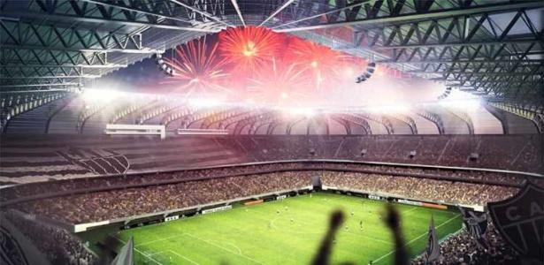 Projeto do estádio do Atlético-MG aguarda aprovação de Secretaria de Estado