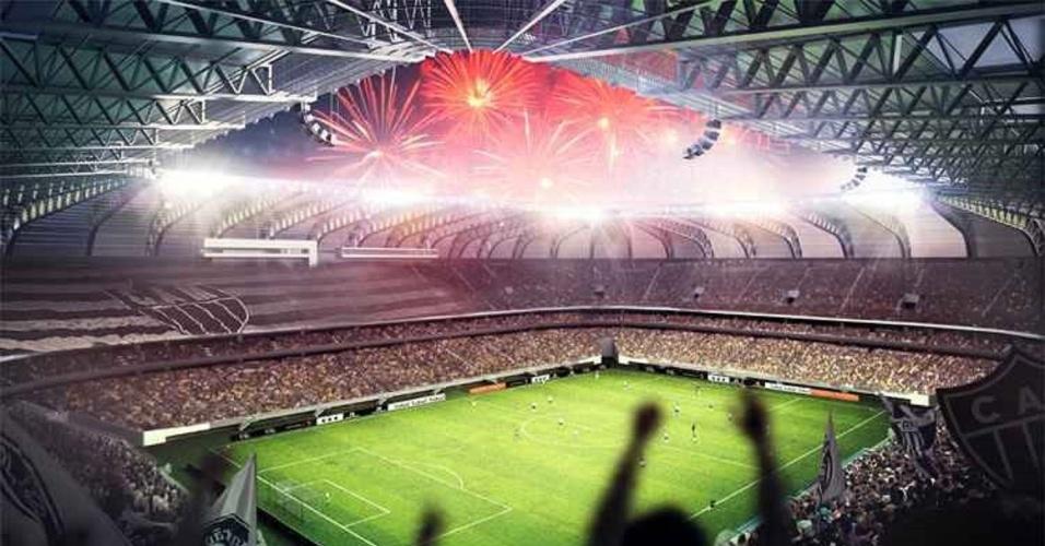Projeto do estádio do Atlético-MG