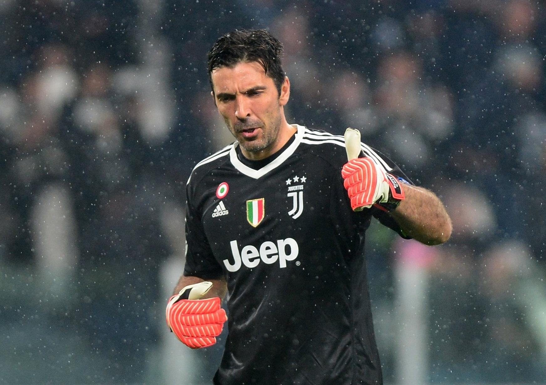 Gianluigi Buffon, goleiro da Juventus, em lance da partida contra o Real Madrid