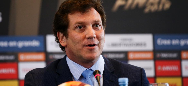 Alejandro Dominguez, presidente da Conmebol, defende novas edições do duelo entre europeus x sul-americanos - Agustin Marcarian/Getty Images