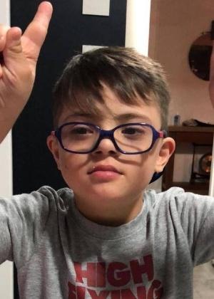 Santino Deian, de 8 anos, é filho do jogador Walter Montillo - Arquivo pessoal