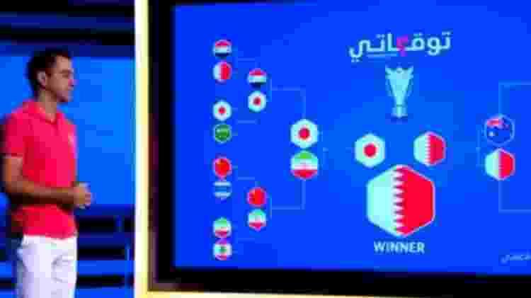 Em dezembro, meia foi a TV e 'previu' vitória do Qatar sobre o Japão em final - Reprodução