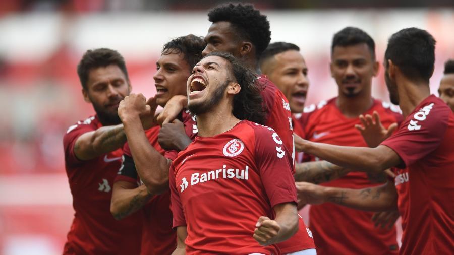 Jogadores do Inter comemoram gol e vitórias que espantam instabilidade - Ricardo Duarte/Inter