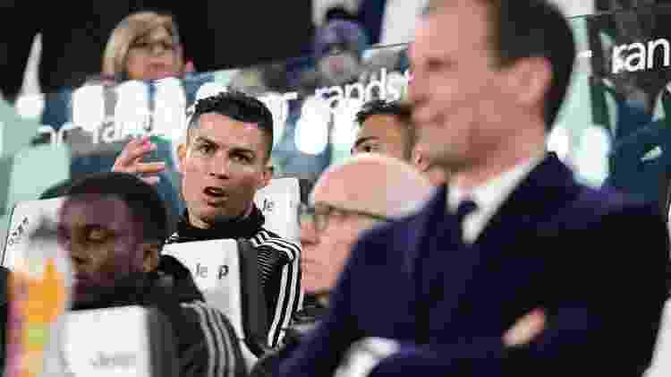 Cristiano Ronaldo banco - Miguel Medina/AFP - Miguel Medina/AFP