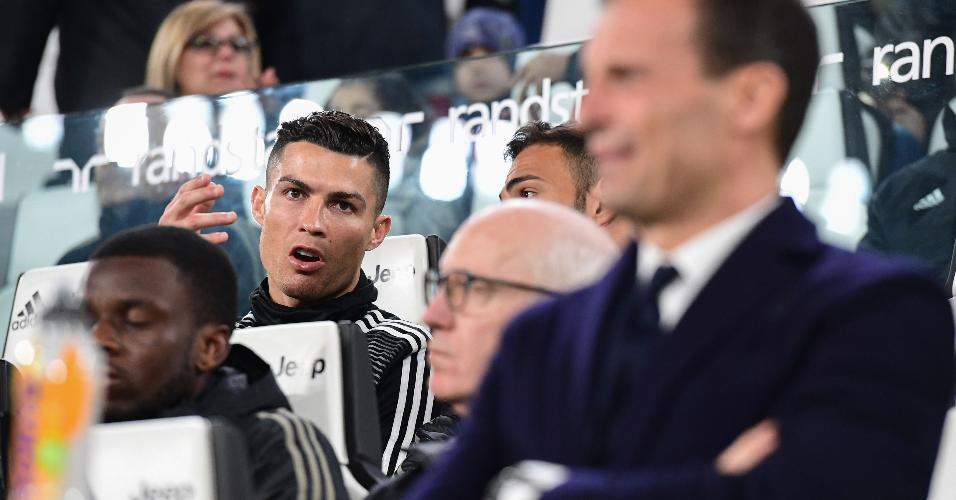 Cristiano Ronaldo banco Juventus Udinese