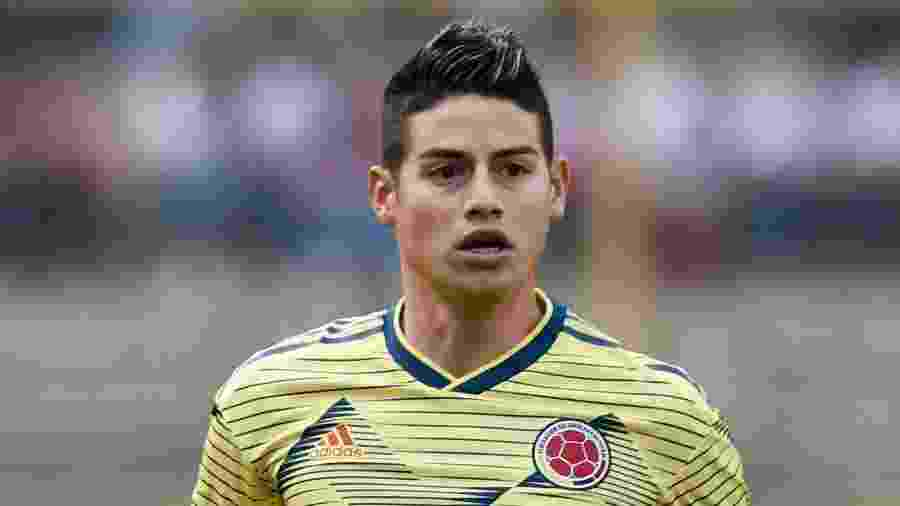 O colombiano James Rodríguez pode trocar o Real Madrid pelo Arsenal - CRIS BOURONCLE / AFP