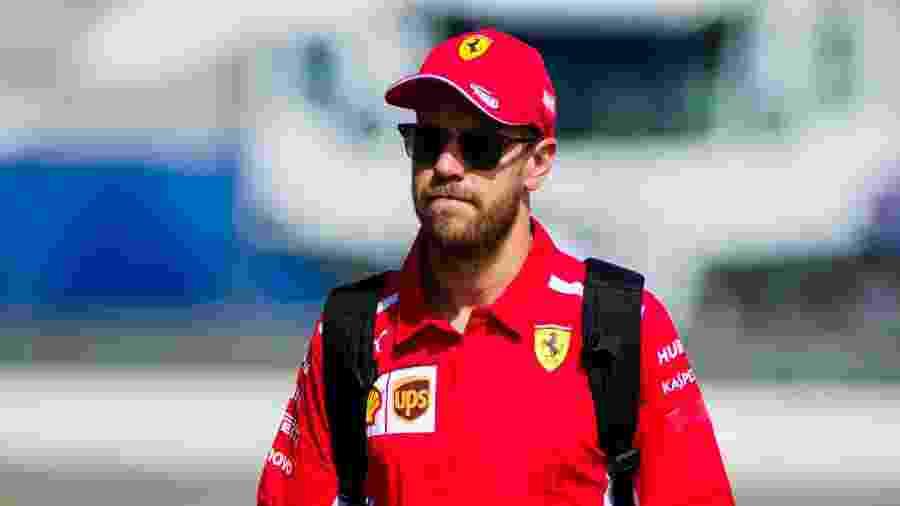 Sebastian Vettel chega ao circuito de Paul Ricard para o GP da França - Pablo Guillen/Action Plus via Getty Images