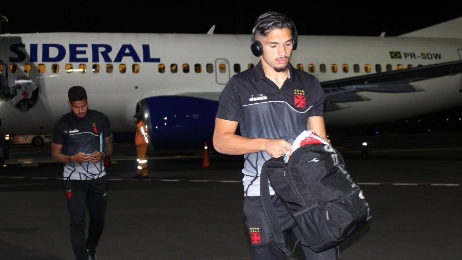 Jogadores do Vasco durante viagem da delegação em partida realizada ano passado no Equador - Carlos Gregório Jr. / Vasco