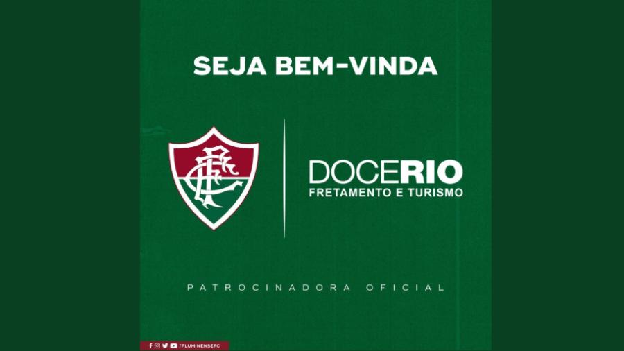 Em dificuldade financeira, Fluminense anunciou novo patrocinador oficial nesta terça-feira - Reprodução/Twitter