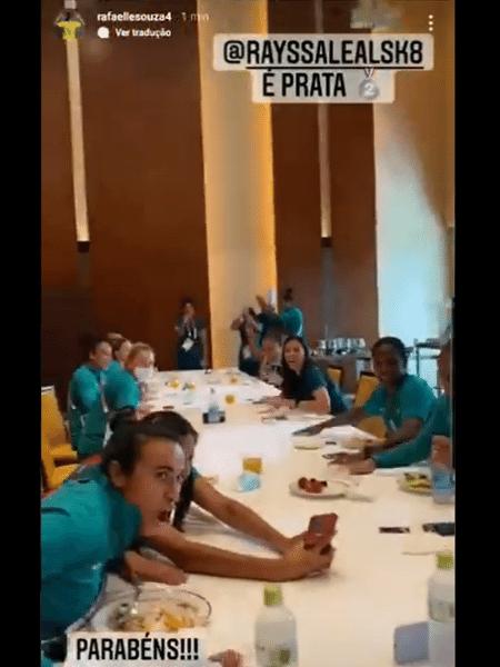 Seleção feminina de futebol comemora a medalha de Rayssa Leal - Reprodução/Instagram