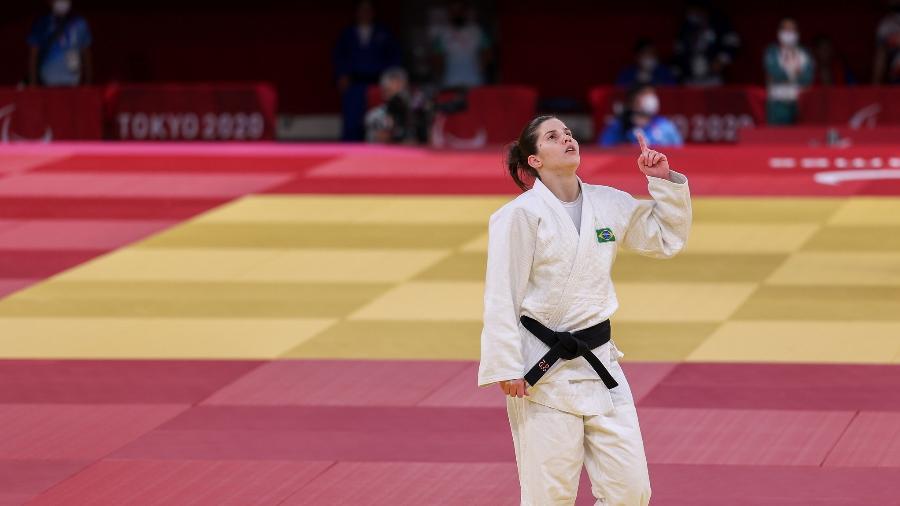 Alana Maldonado, após luta nas Paralimpíadas de Tóquio - Matsui Mikihito/CPB