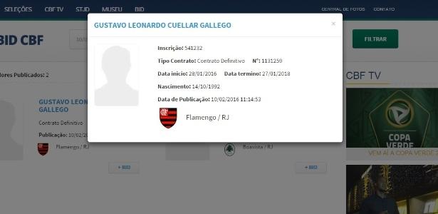 Volante já aparece registrado pelo Flamengo