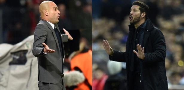 Pep Guardiola e Diego Simeone fazem de seus times sua imagem e semelhança