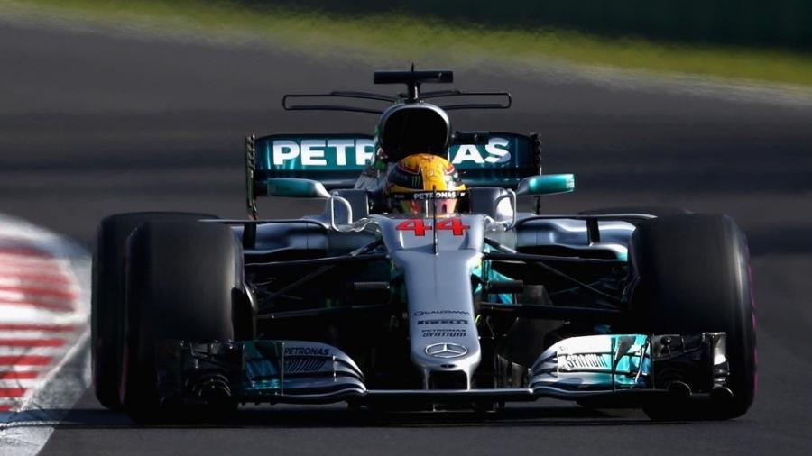 Lewis Hamilton, da Mercedes, nos treinos livres do GP do México - Clive Mason/Getty Images