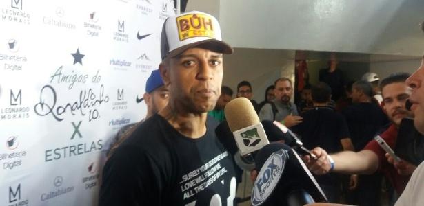 Sidão atuou no time das estrelas na partida festiva de Ronaldinho Gaúcho