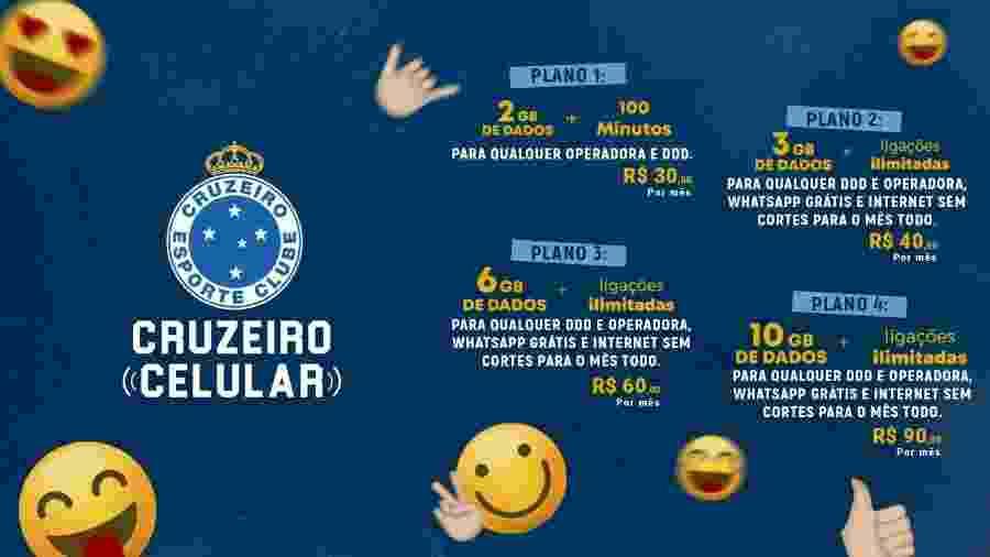Cruzeiro é o primeiro clube do país a lançar operadora de telefonia móvel - Cruzeiro/Divulgação
