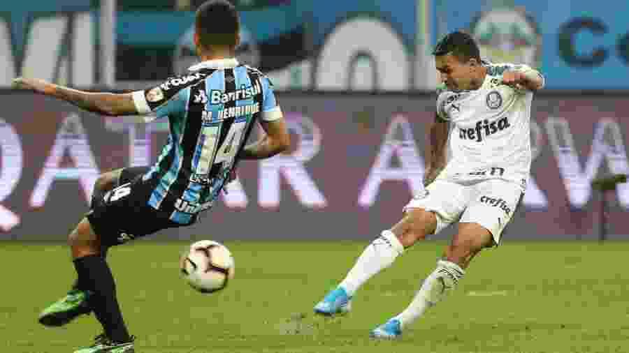 Palmeiras conquistou vantagem importante ao vencer o Grêmio em Porto Alegre por 1 a 0 - Cesar Greco/Ag. Palmeiras/Divulgação