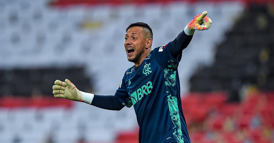 Goleiro do Flamengo Diego Alves durante decisão do Carioca 2020 contra o Fluminense