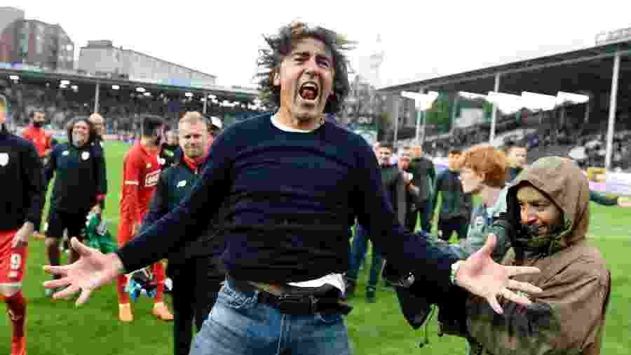 Ricardo Sá Pinto quando era técnico do Standard Liége: temperamento explosivo   - Philippe Crochet / Photonews via Getty Images