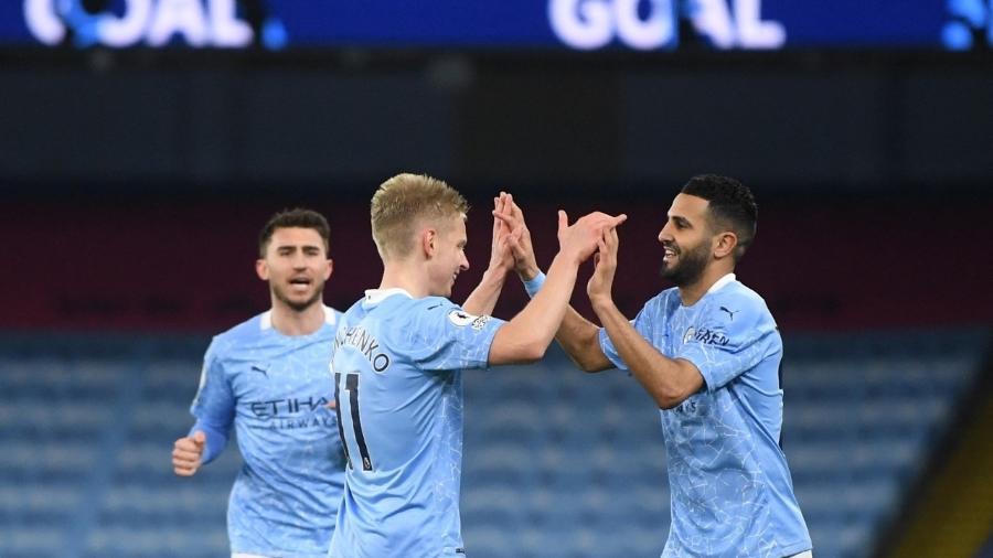 Manchester City pode conquistar as quatro taças que disputa na temporada - Gareth Copley / POOL / AFP