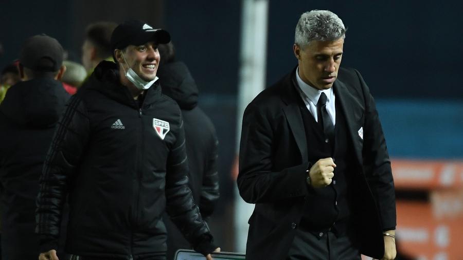 Hernán Crespo comemora gol do São Paulo contra o Racing - Staff Images / CONMEBOL