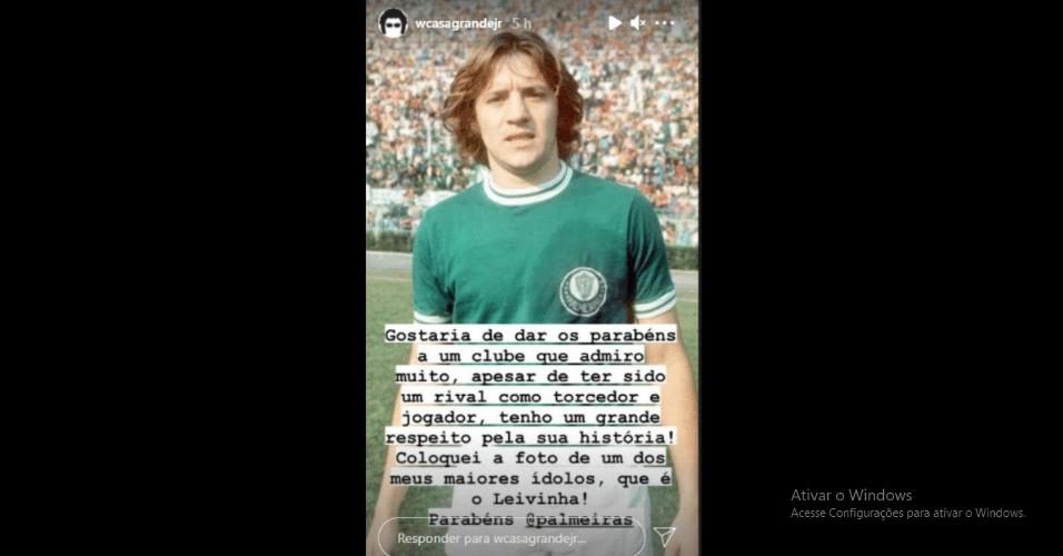 Walter Casagrande desejou parabéns ao Palmeiras