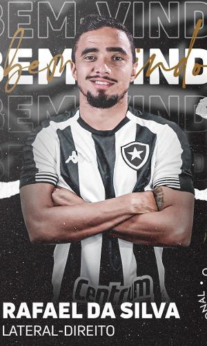 Rafael foi anunciado como novo jogador do Botafogo