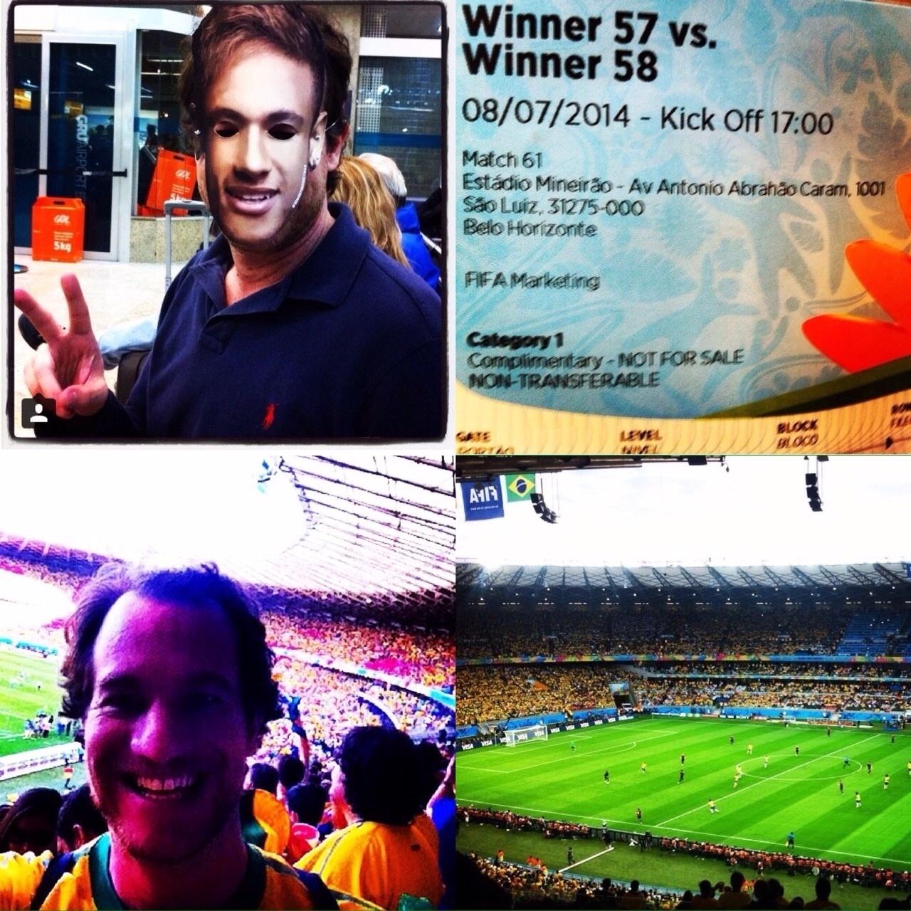 Sylvio de Campos, publicitário de formação, está habituado a frequentar grandes eventos como torcedor e diz que já esperava uma vitória da Alemanha