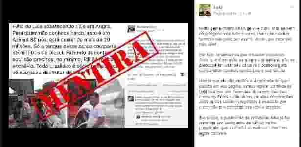 Lula rebate postagem de Wanderlei Silva no Facebook - Reprodução - Reprodução