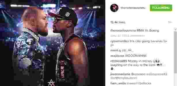 Conor McGregor e Mayweather estão realmente interessados em se enfrentarem - Reprodução/Instagram