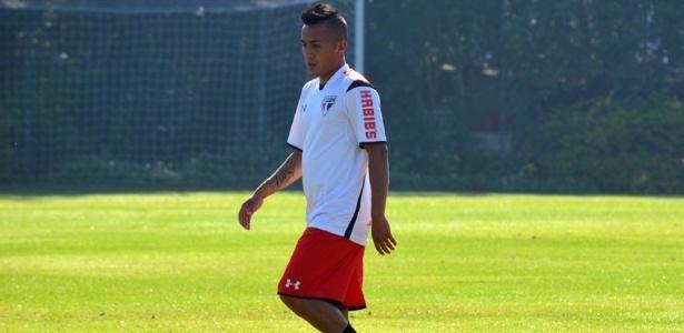 Cueva estreará com a camisa do São Paulo contra o Fluminense